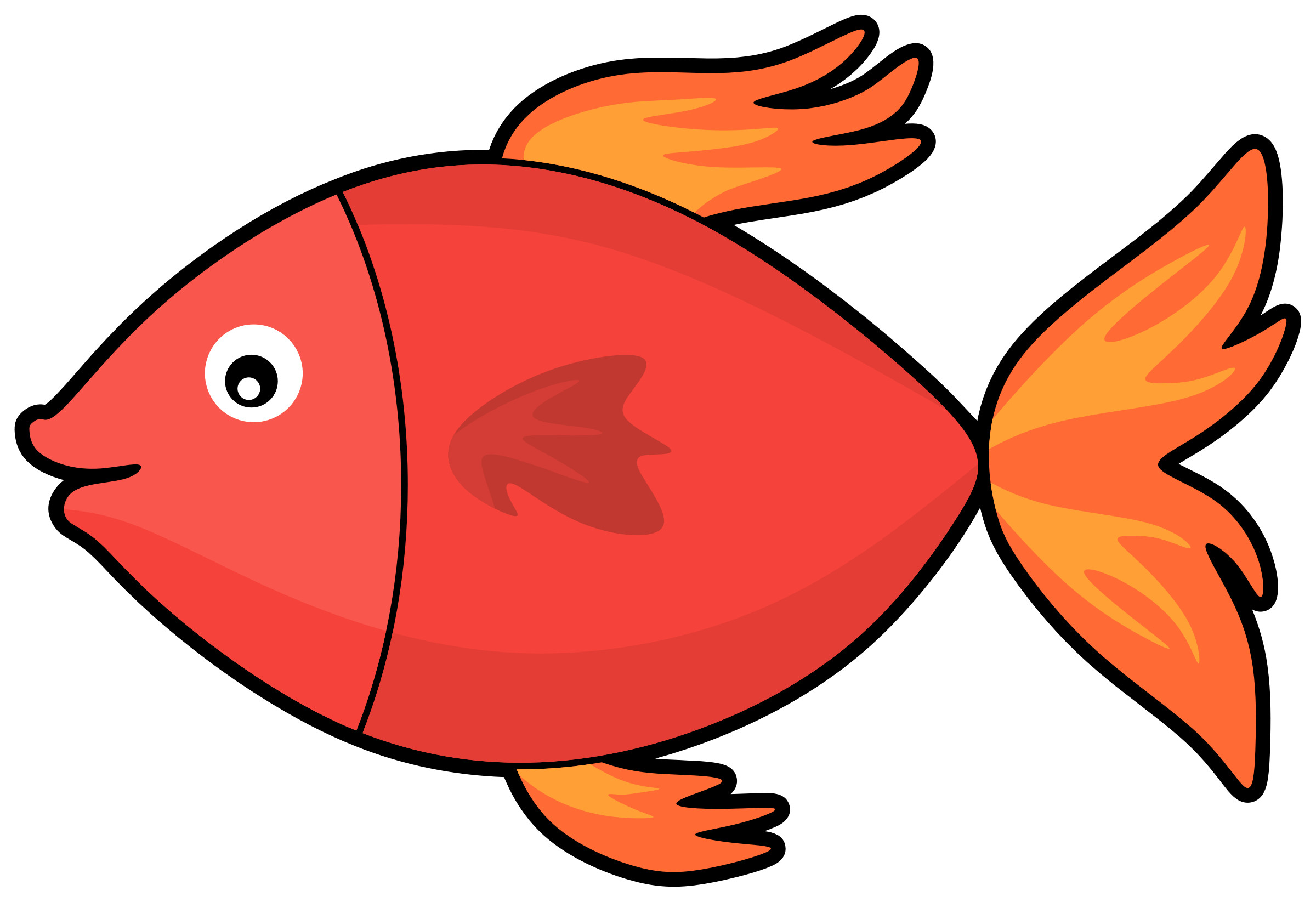 Cartoon amazing pictures of. Clipart fish