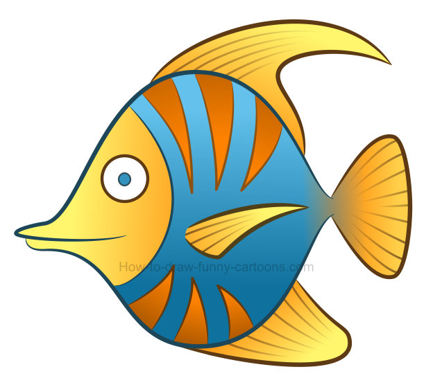 collection of colorful. Fish clipart