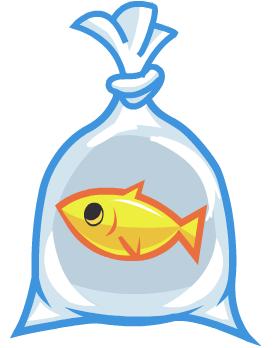 Moshling theme park in. Fish clipart bag