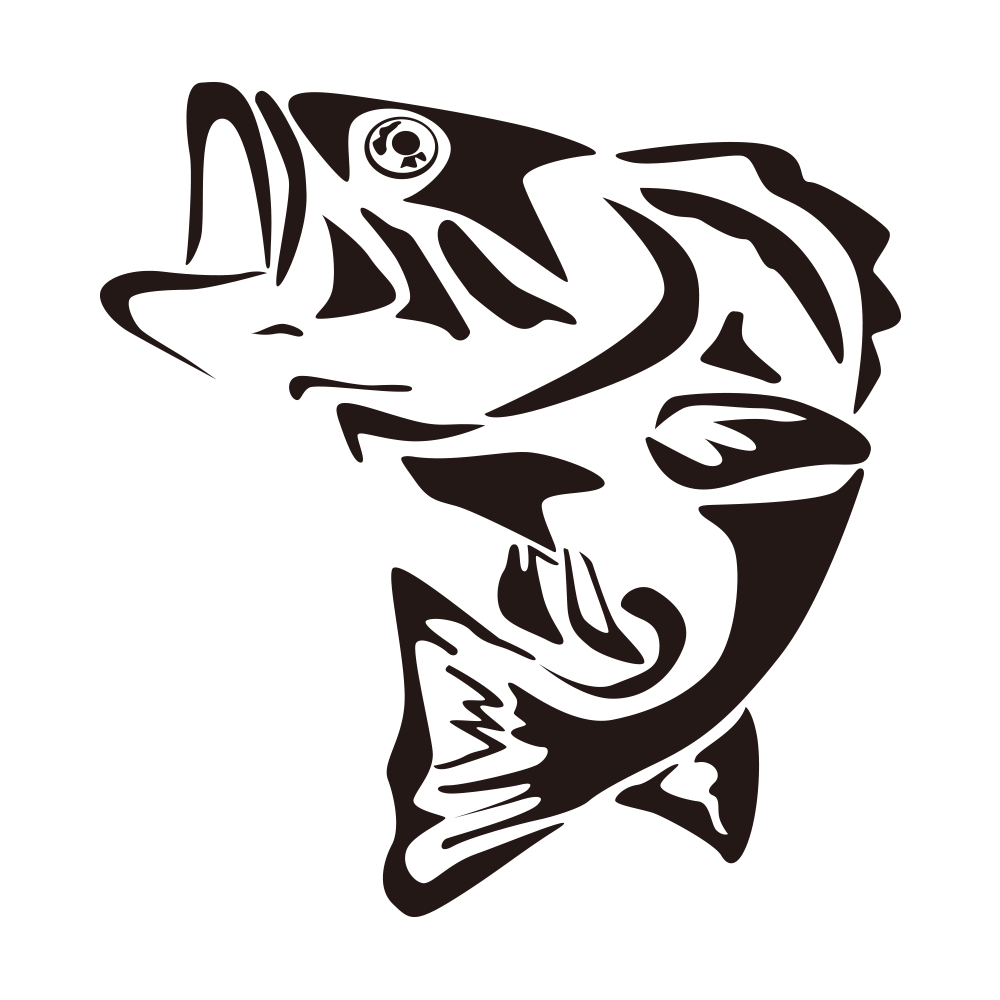 Fish clipart logo. Largemouth bass fishing clip