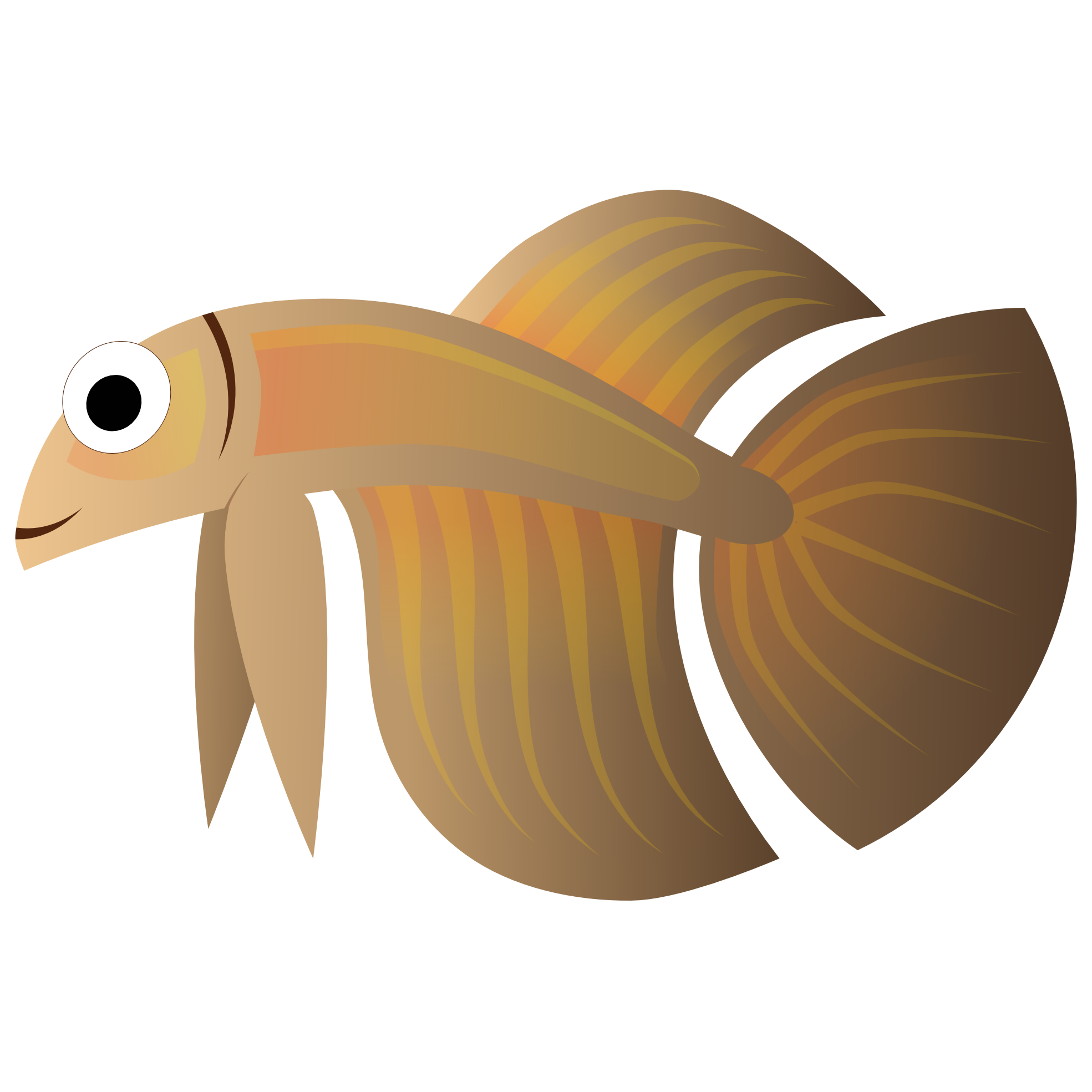 fish clipart beige