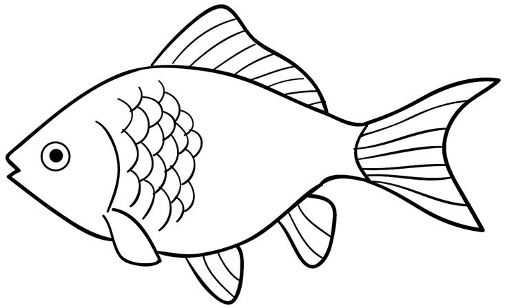 fish free download. Fishing clipart black and white