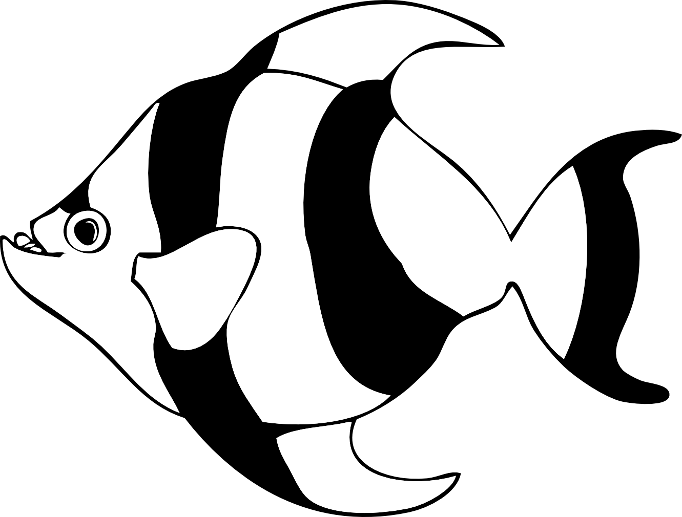 Fish black and white. Fishing clipart logo