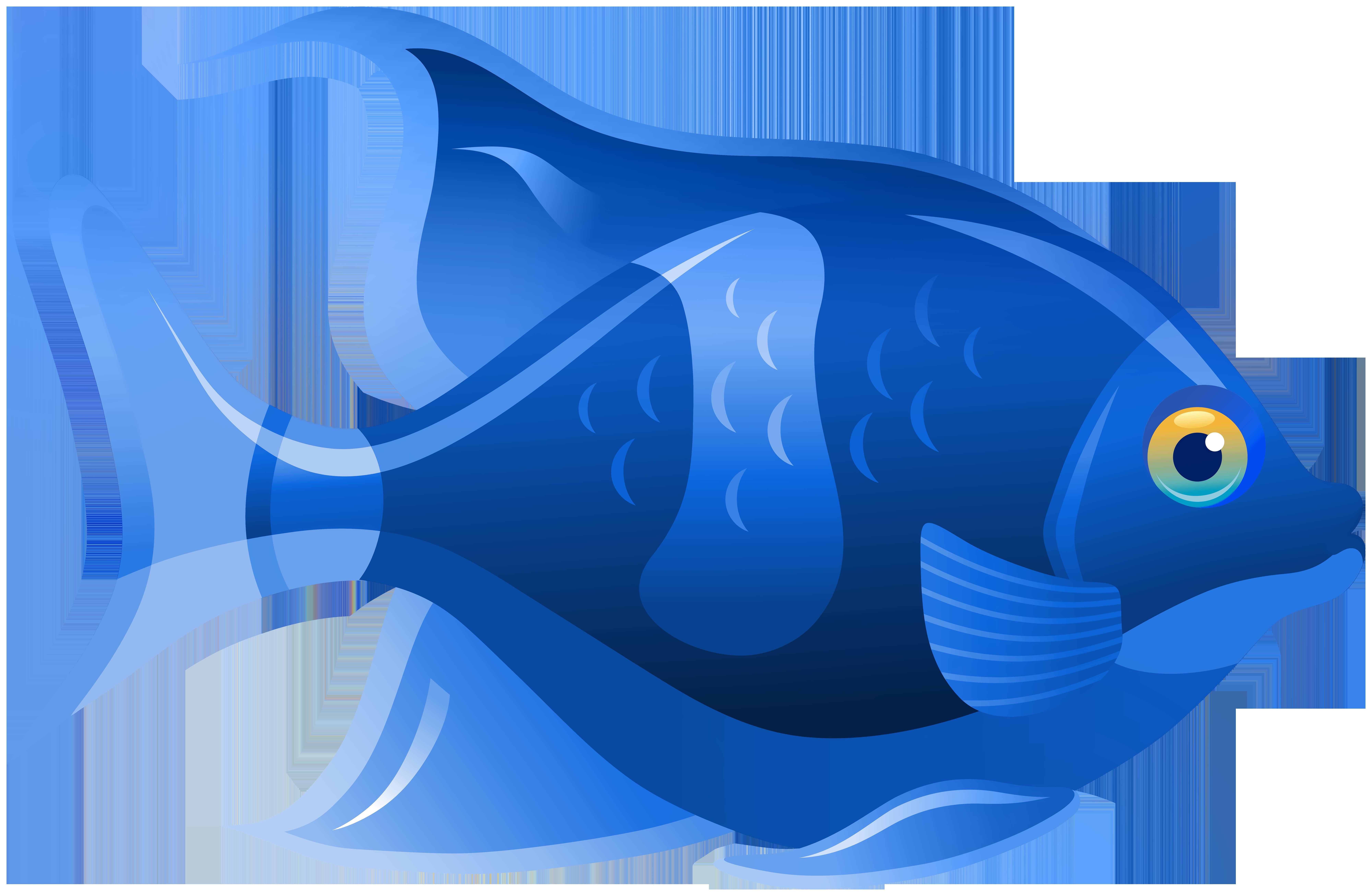 clipart fish blue