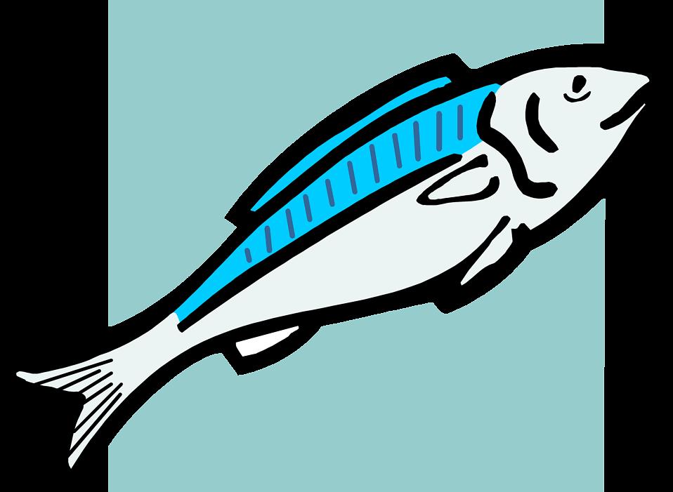 Free stock photo illustration. Clipart fish blue