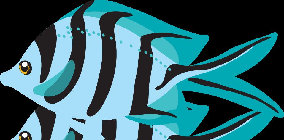 Clipart fish blue. Clipartix