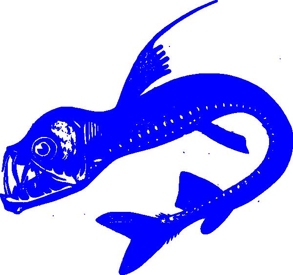 Clipart fish blue. Viper clip art at