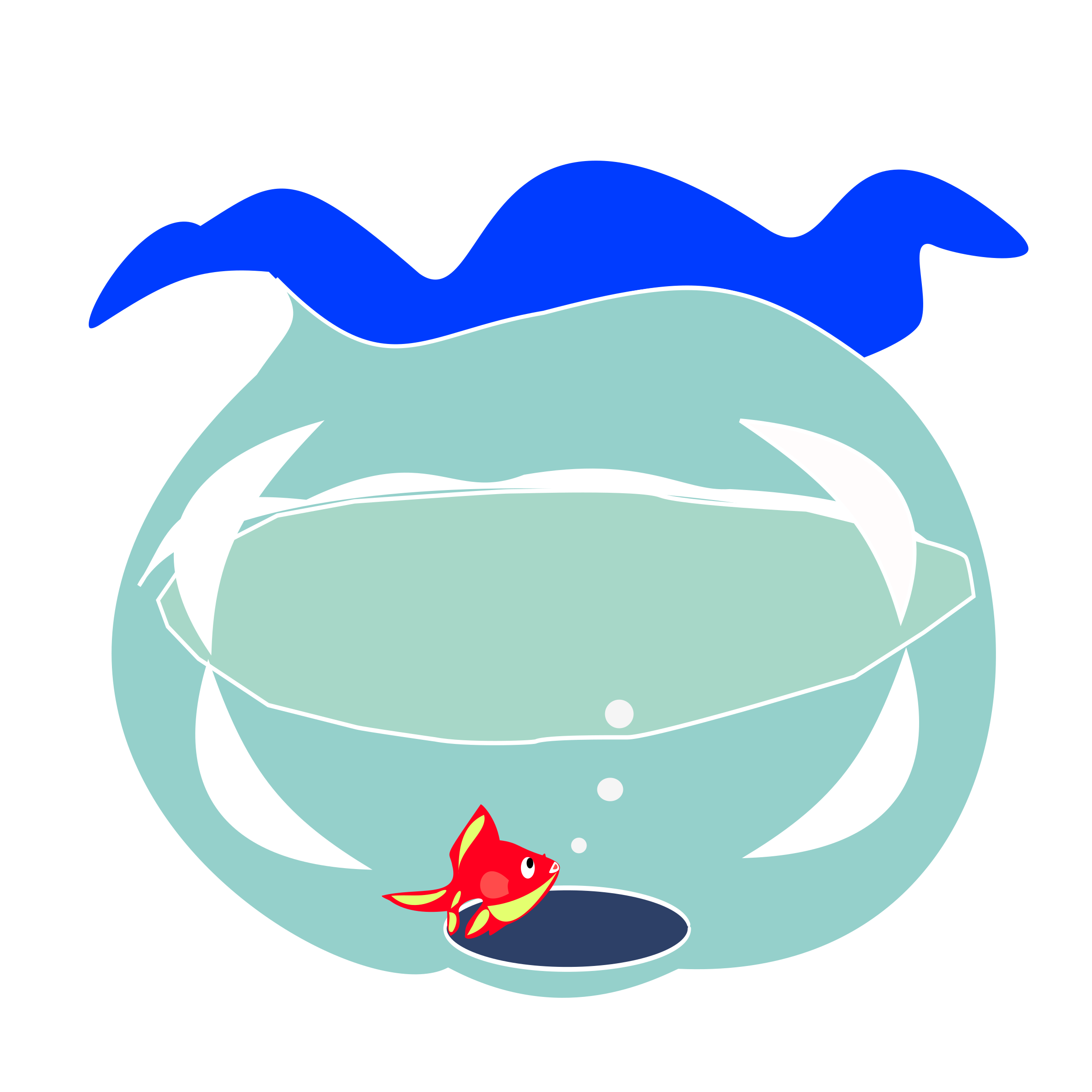 Fishbowl clipart home. Goldfish in big image