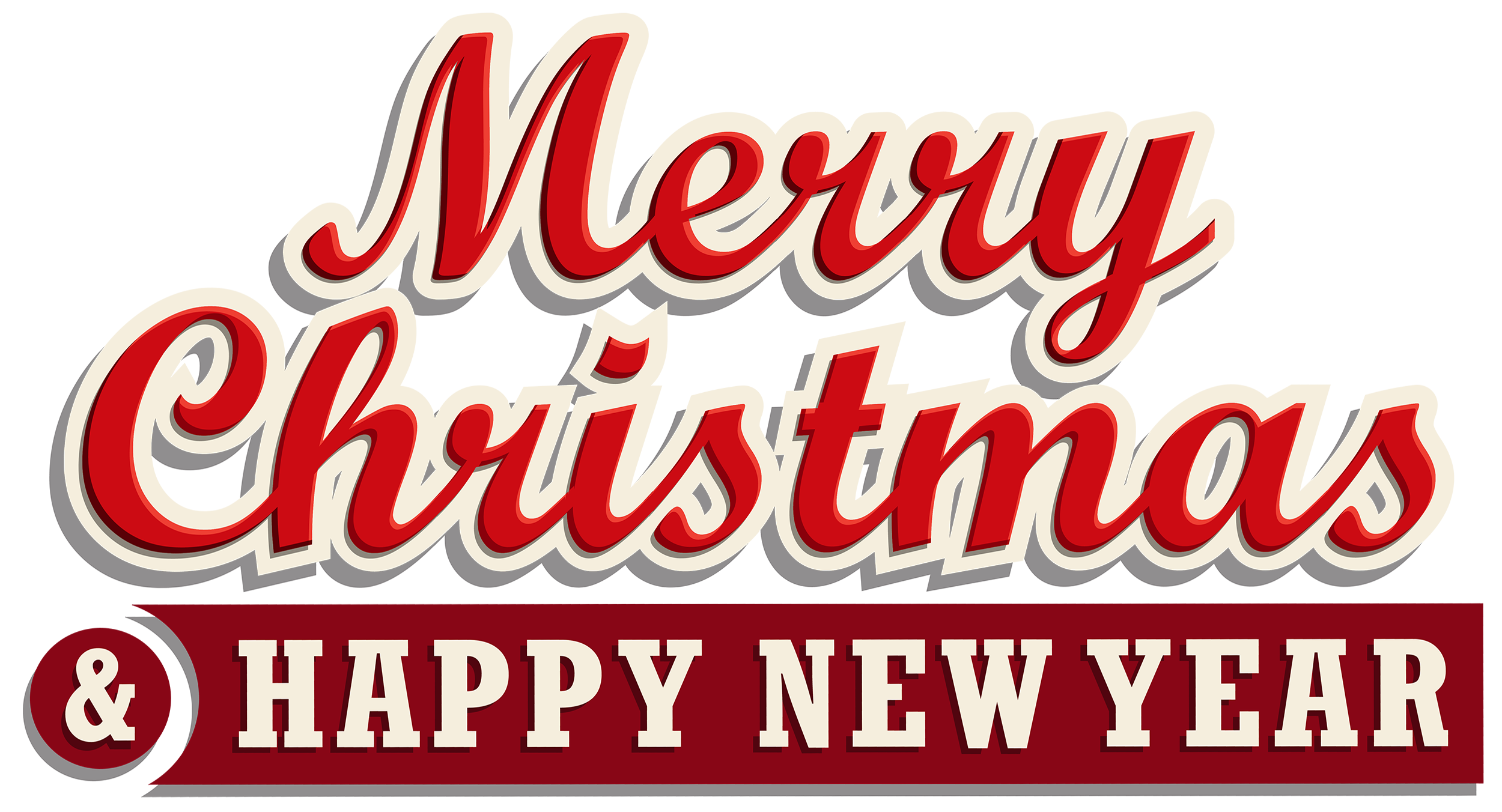 Merry christmas and new. Telephone clipart happy