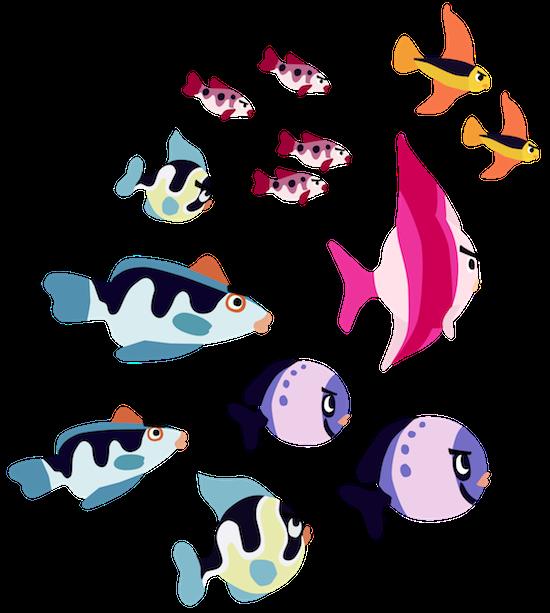 Clipart frames fish. School of png transparent