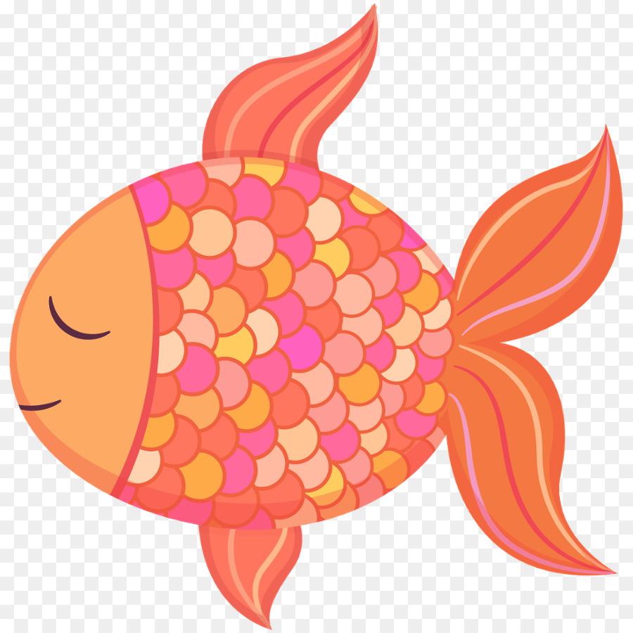 Pink flower cartoon food. Clipart fish clip art