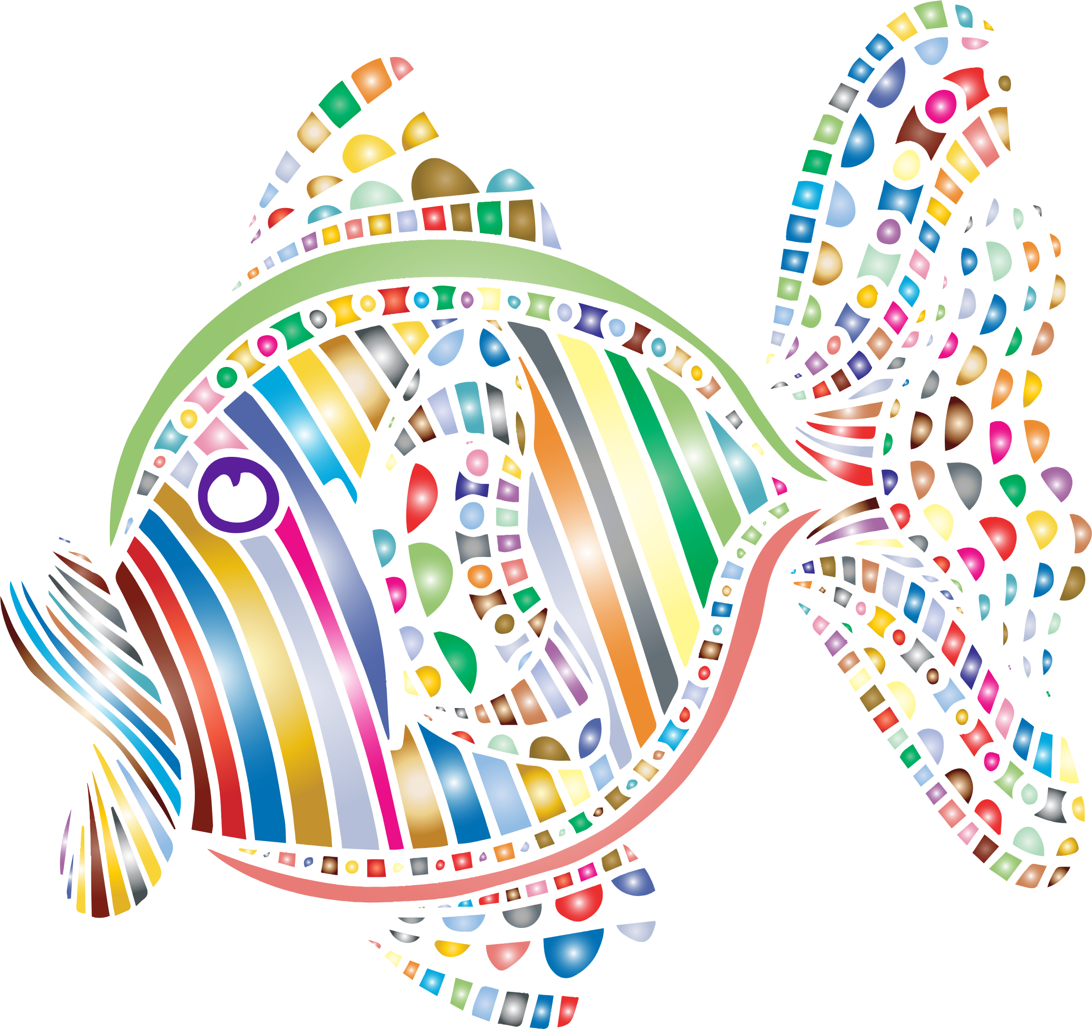 Abstract big image png. Clipart fish colorful