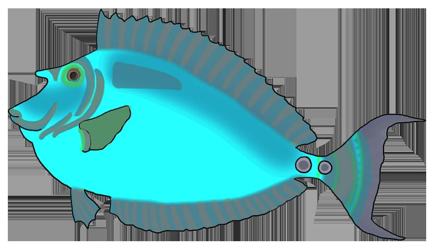 Clipart fish colorful. Clip art blue green