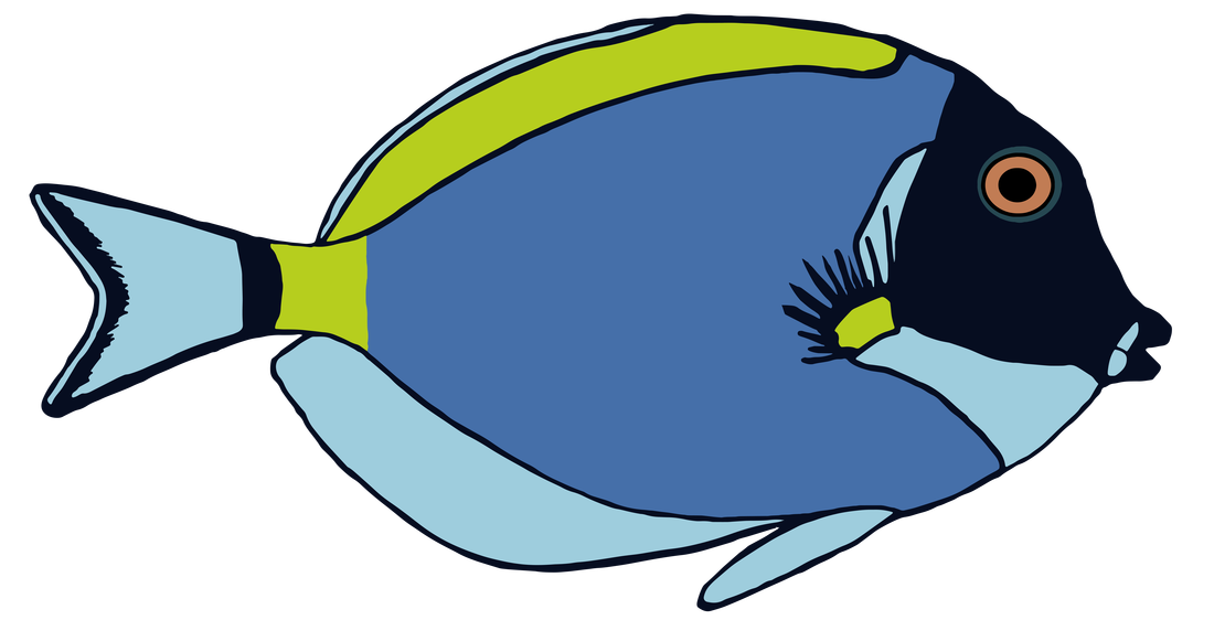 Clipart fish colorful. Tropical pattern powder blue