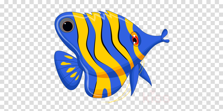 Background illustration blue . Fish clipart coral reef fish