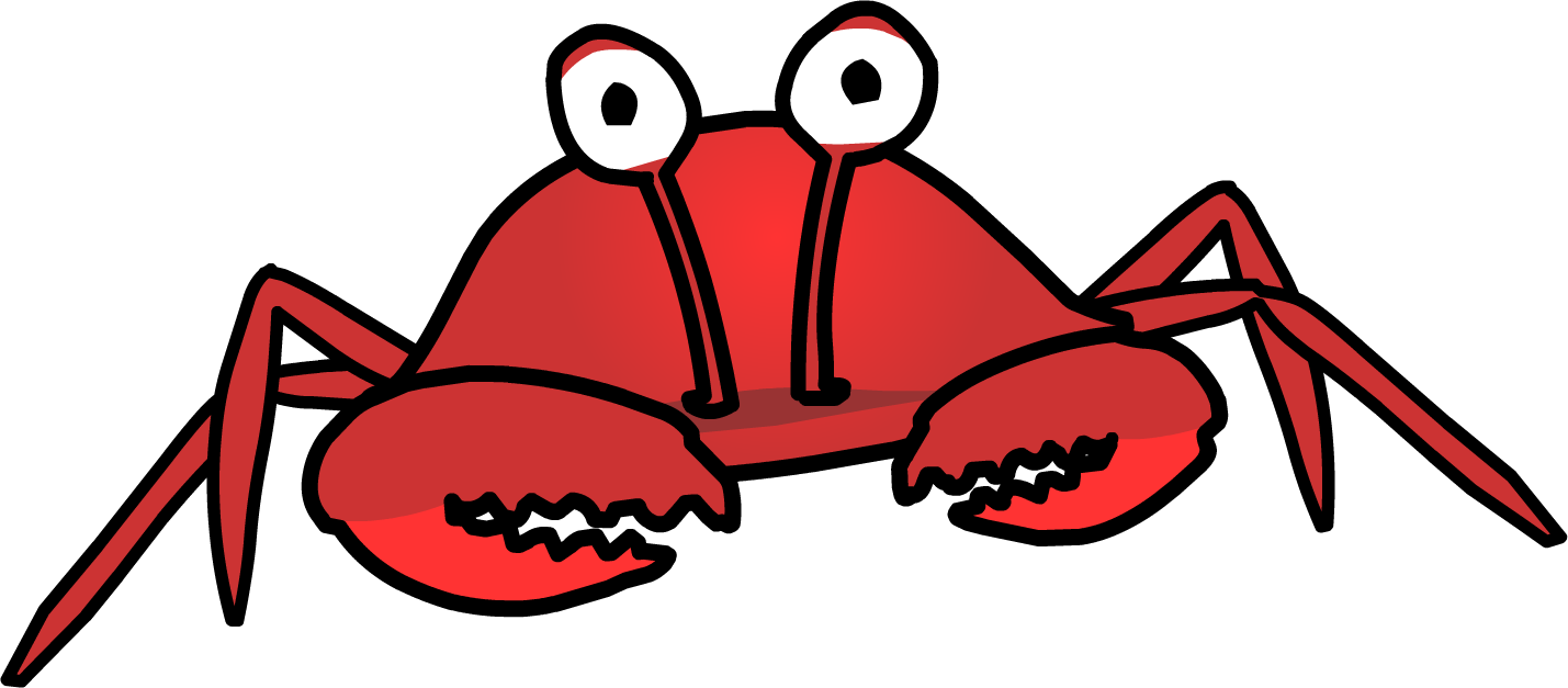 Crabs clipart crab claw. Club penguin wiki fandom