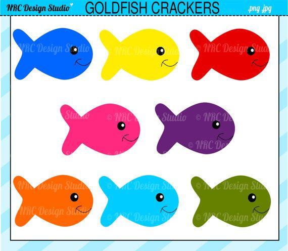 Goldfish clipart fish cracker. Cute clip art crackers