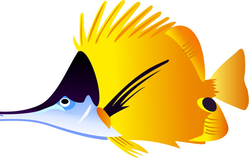 Fish clipartfish black and. Dory clipart cute