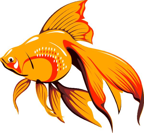 Panda free images fishclipart. Goldfish clipart 4 fish