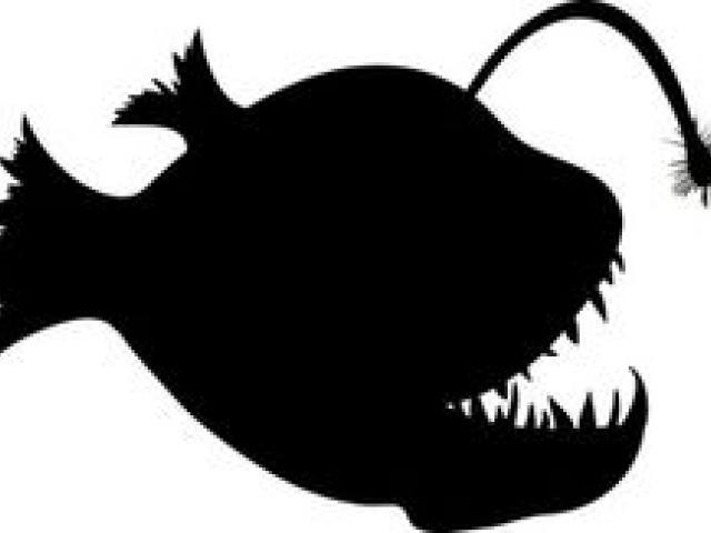 X free clip art. Clipart fish creepy