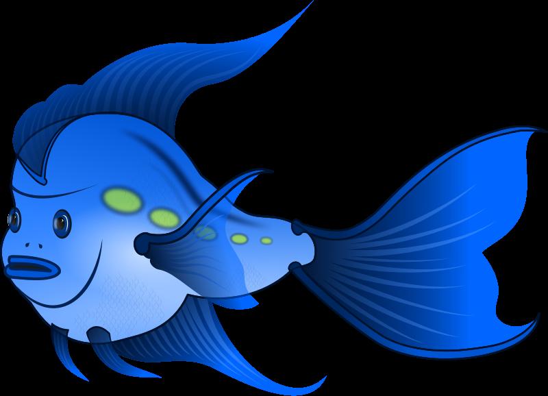The top best blogs. Fish clipart blue