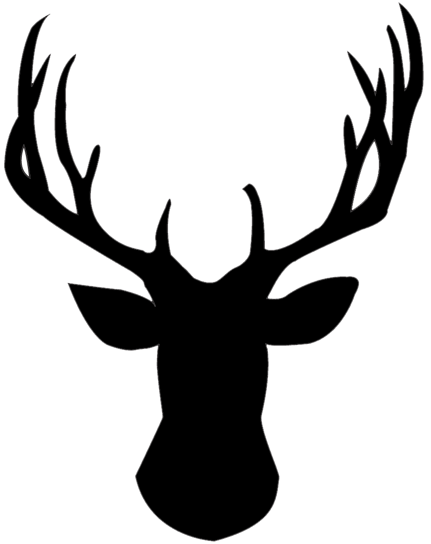 Hunting clipart deer head. Use this silhouette for