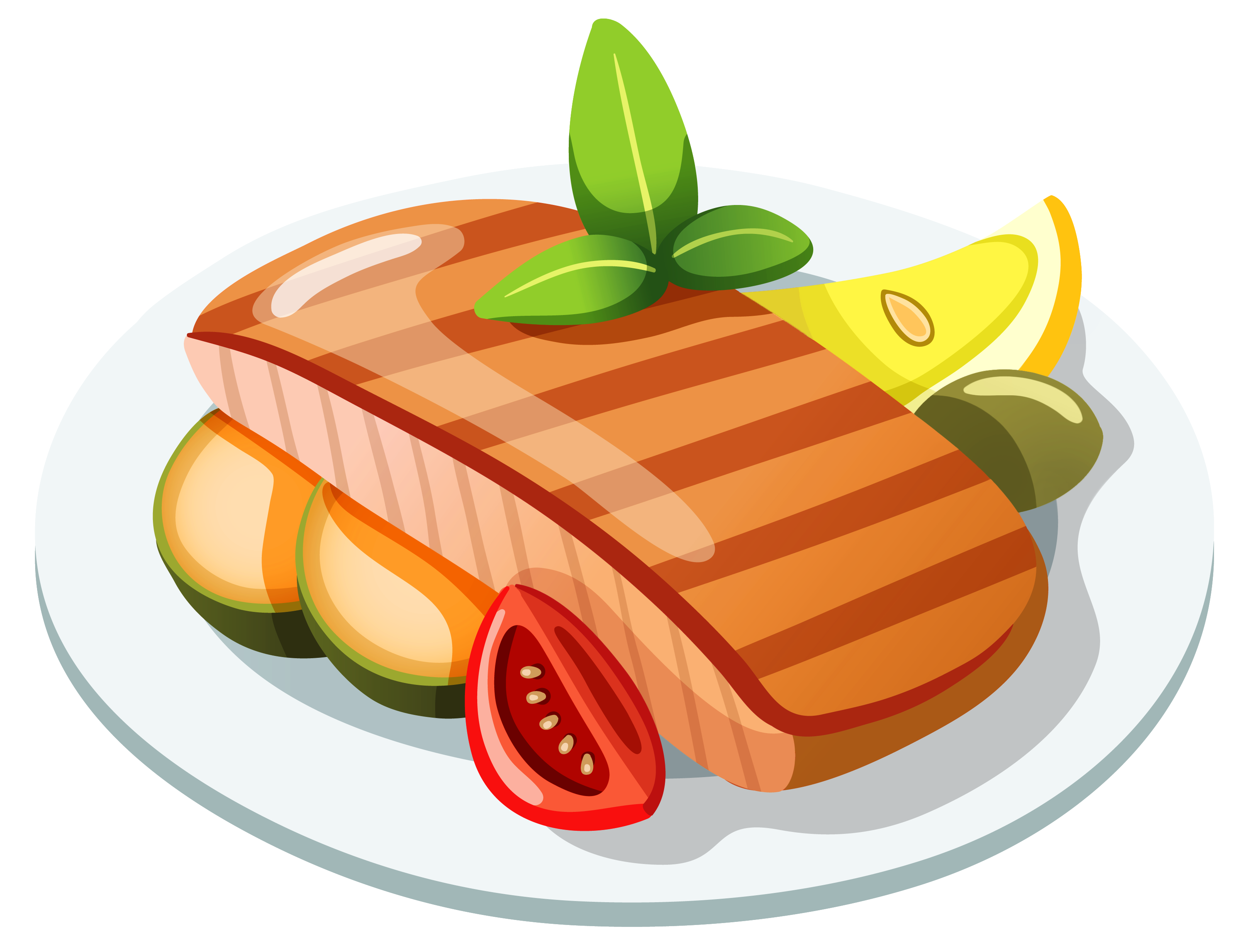 collection of dinner. Feast clipart cooked meat