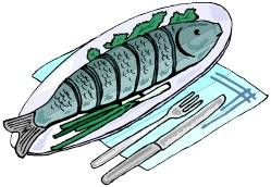 Dinner clip art fishing. Diner clipart fish