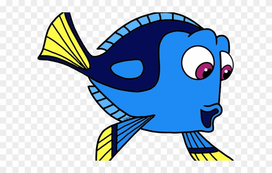 Butterflyfish fish png transparent. Dory clipart cartoon