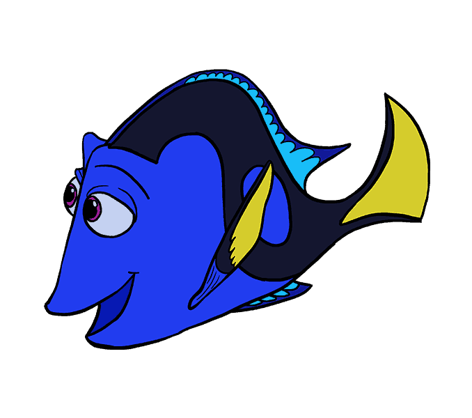 How to draw in. Dory clipart dory fish