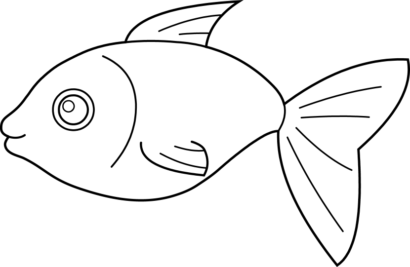 Excited clipart line. Fish clip art cart