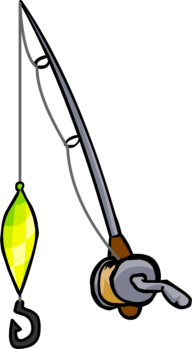 Rod collection flashing lure. Fishing clipart fishing tackle