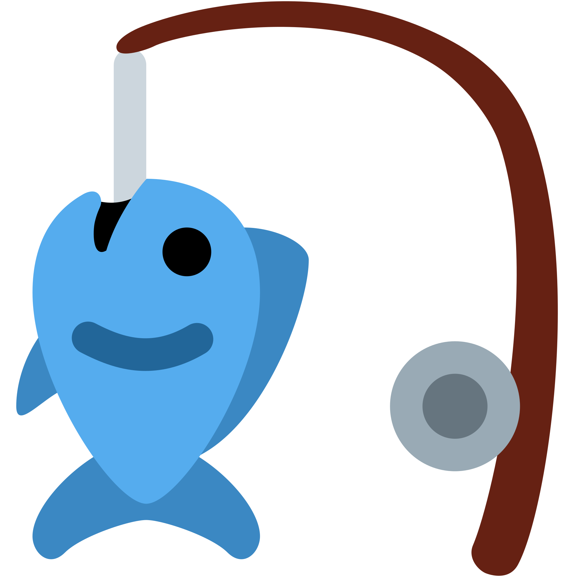 Fishing clipart fishing gear. Pole with fish deanlevin