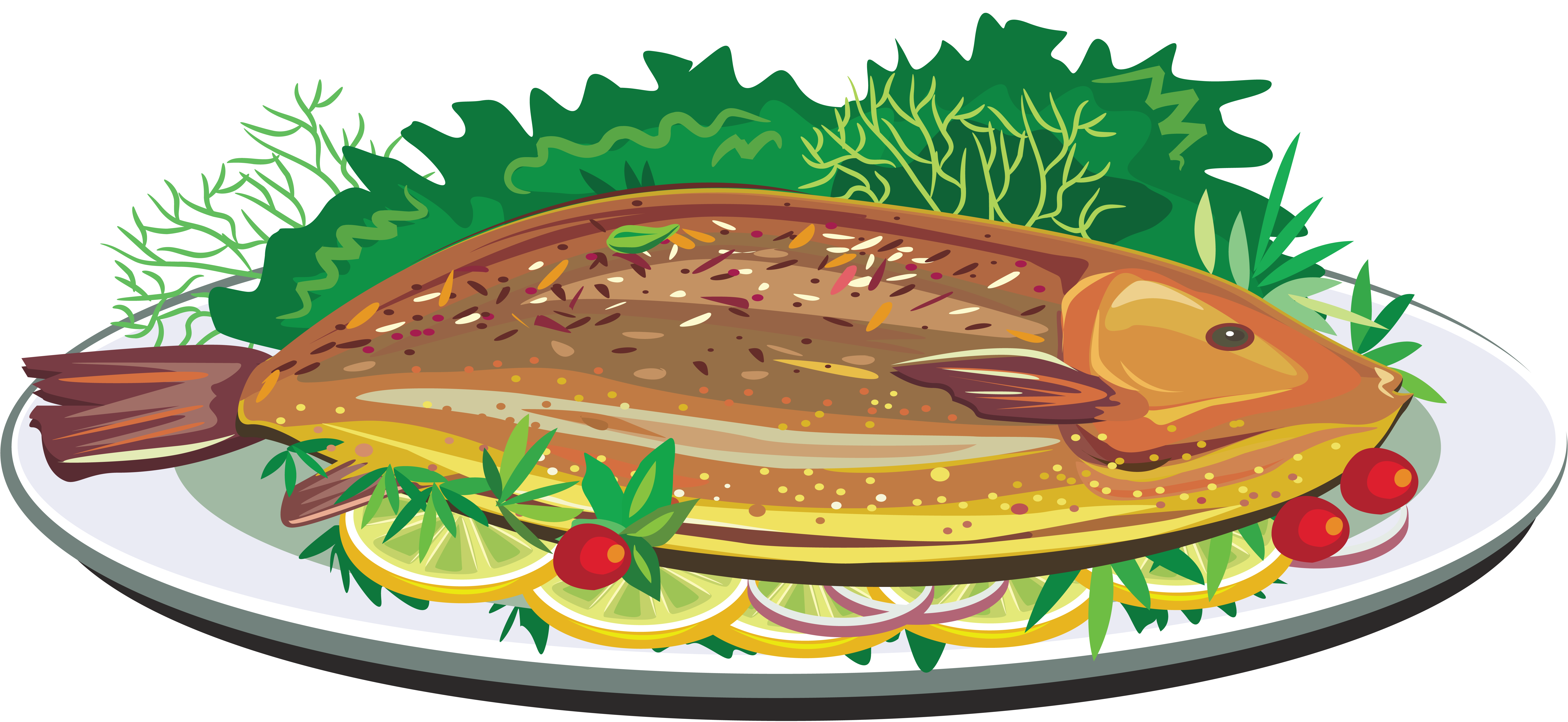 Fried dish clip art. Clipart fish food