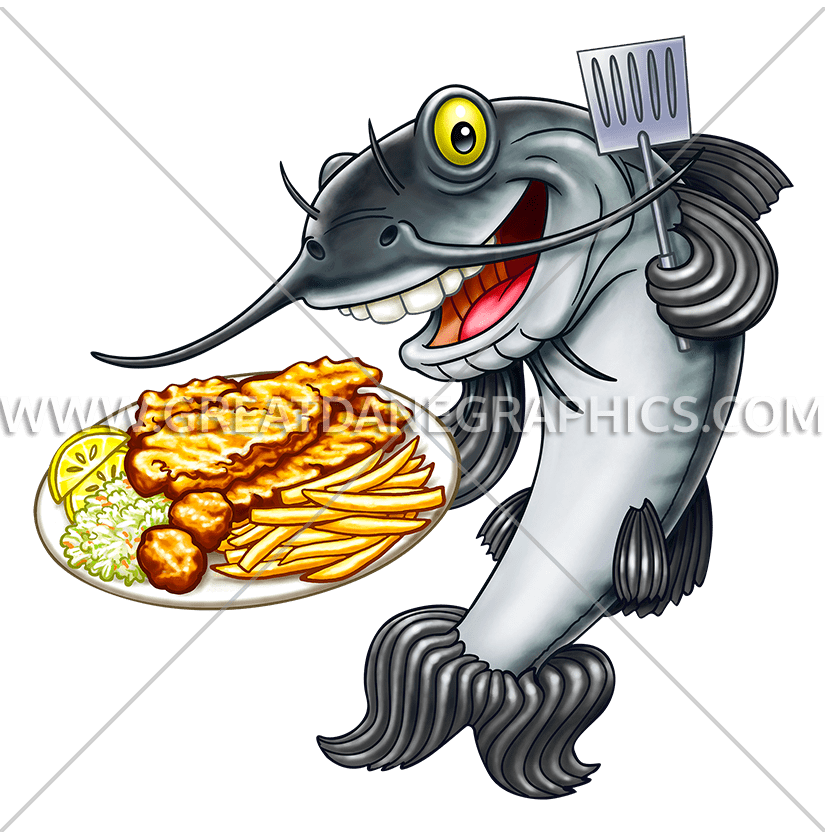 Fry catfish production ready. Fries clipart frying fish