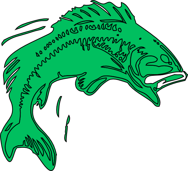 Clipart fish green. Bass clip art at