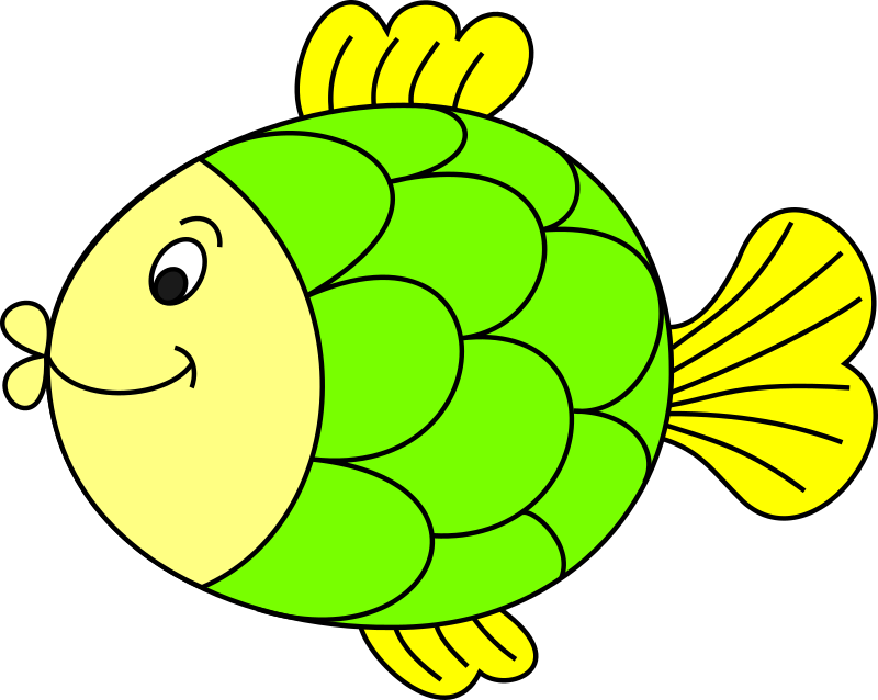 Clipart fish green. Coloured medium image png