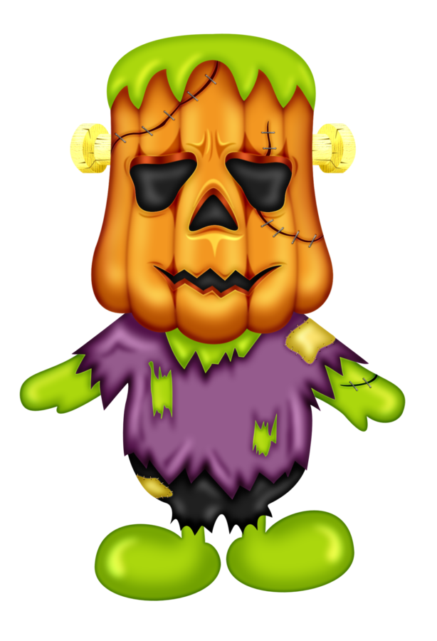 Clipart monkey halloween. Frankenstein pumpkin man clip
