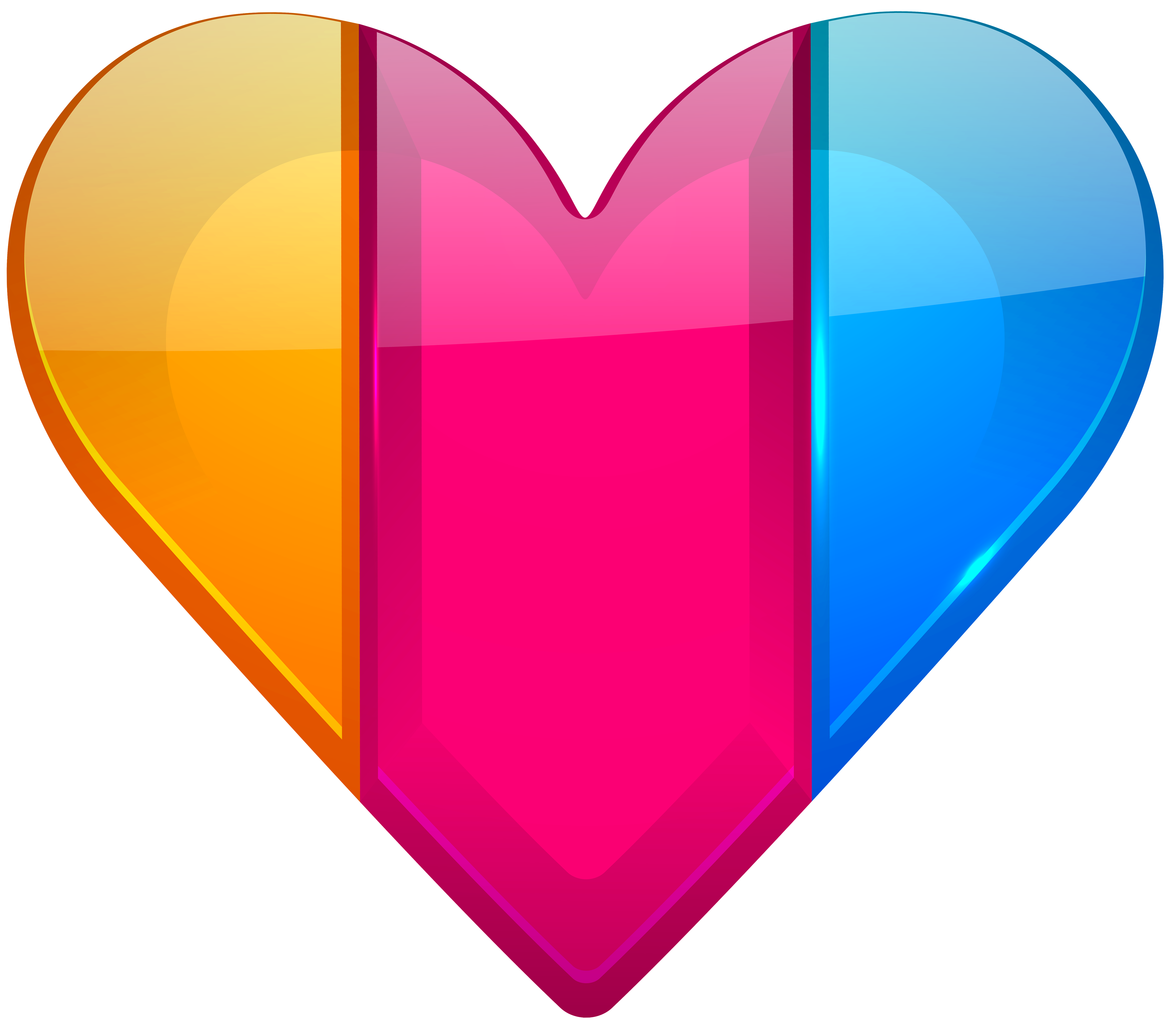 Colorful heart png best. Diamonds clipart coloured