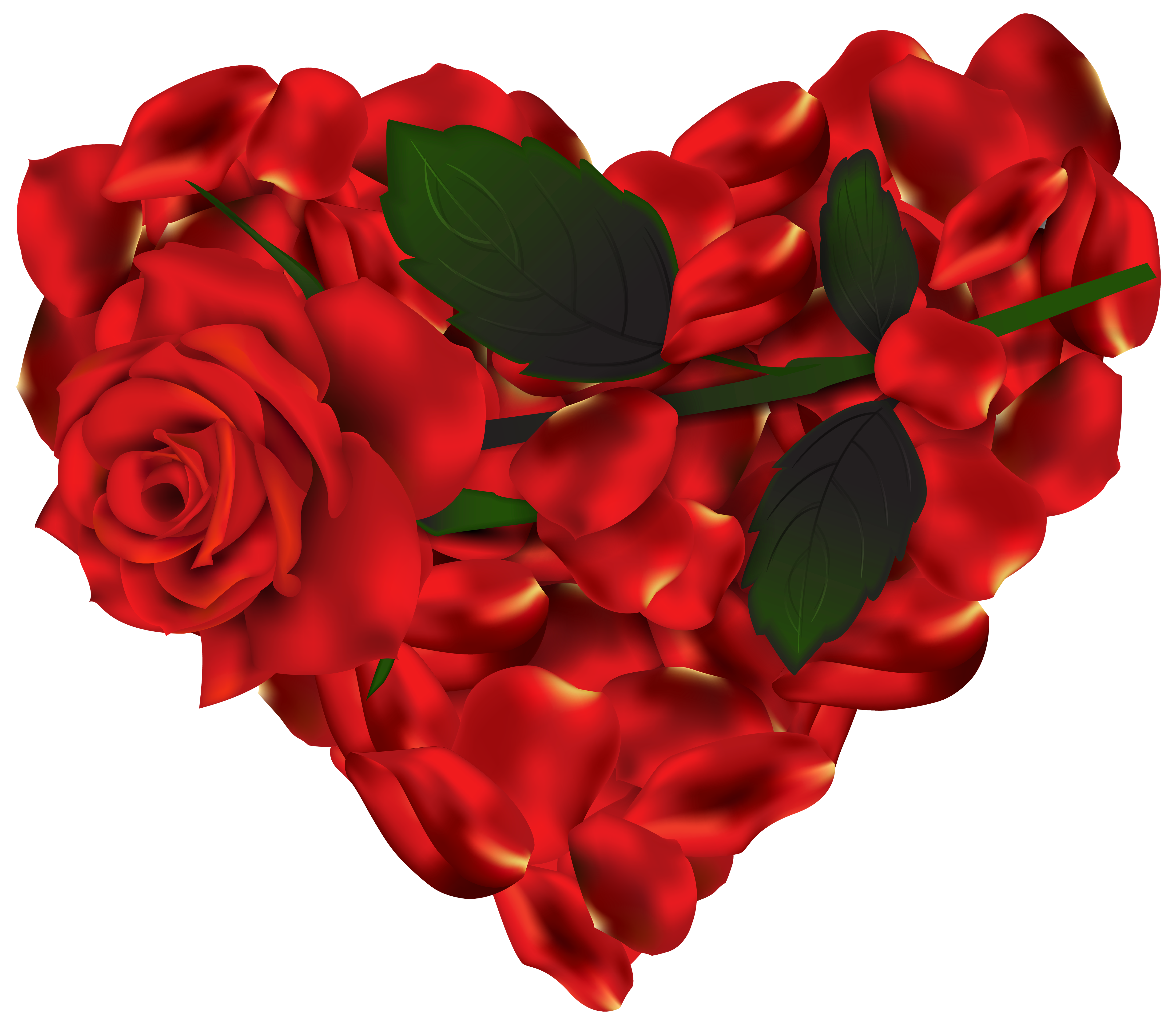 Heart of roses png. Clipart hearts plant