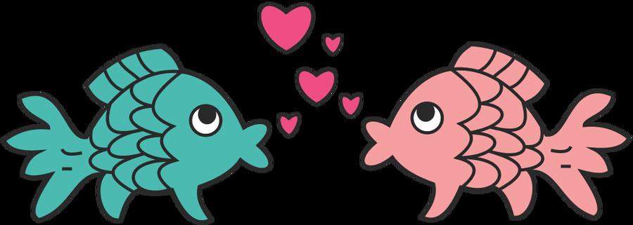 Kiss clip art in. Clipart fish heart