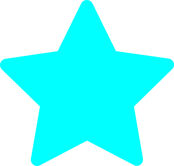 clipart star teal