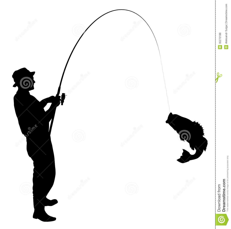 Fisherman clipart hunting fishing. Man silhouette panda free