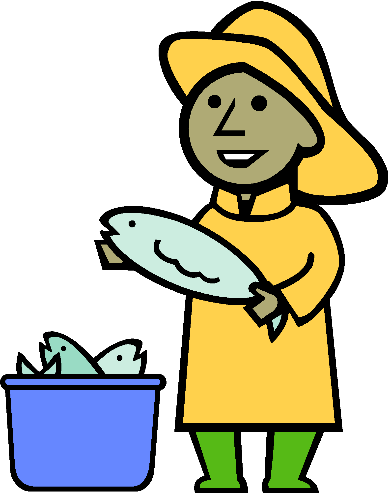 Give a man fish. Donation clipart cash payment
