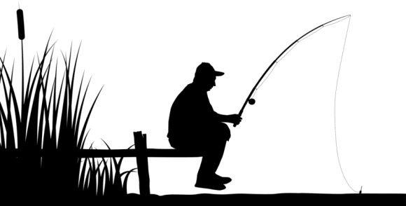 fisherman clipart man fishing