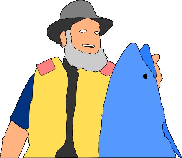 Big fish clip art. Guy clipart fishing