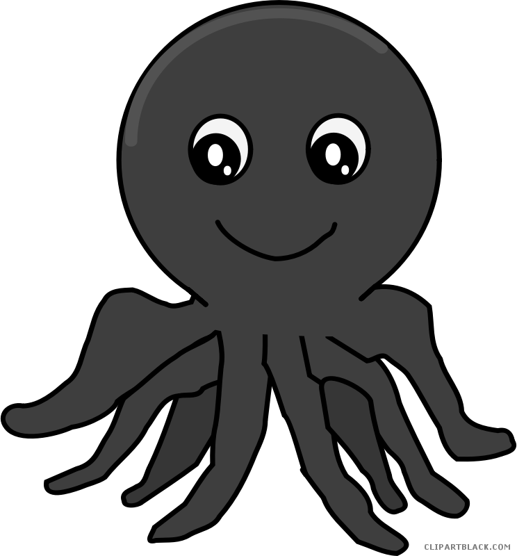 Clipart fish octopus. Awesome clipartblack com animal