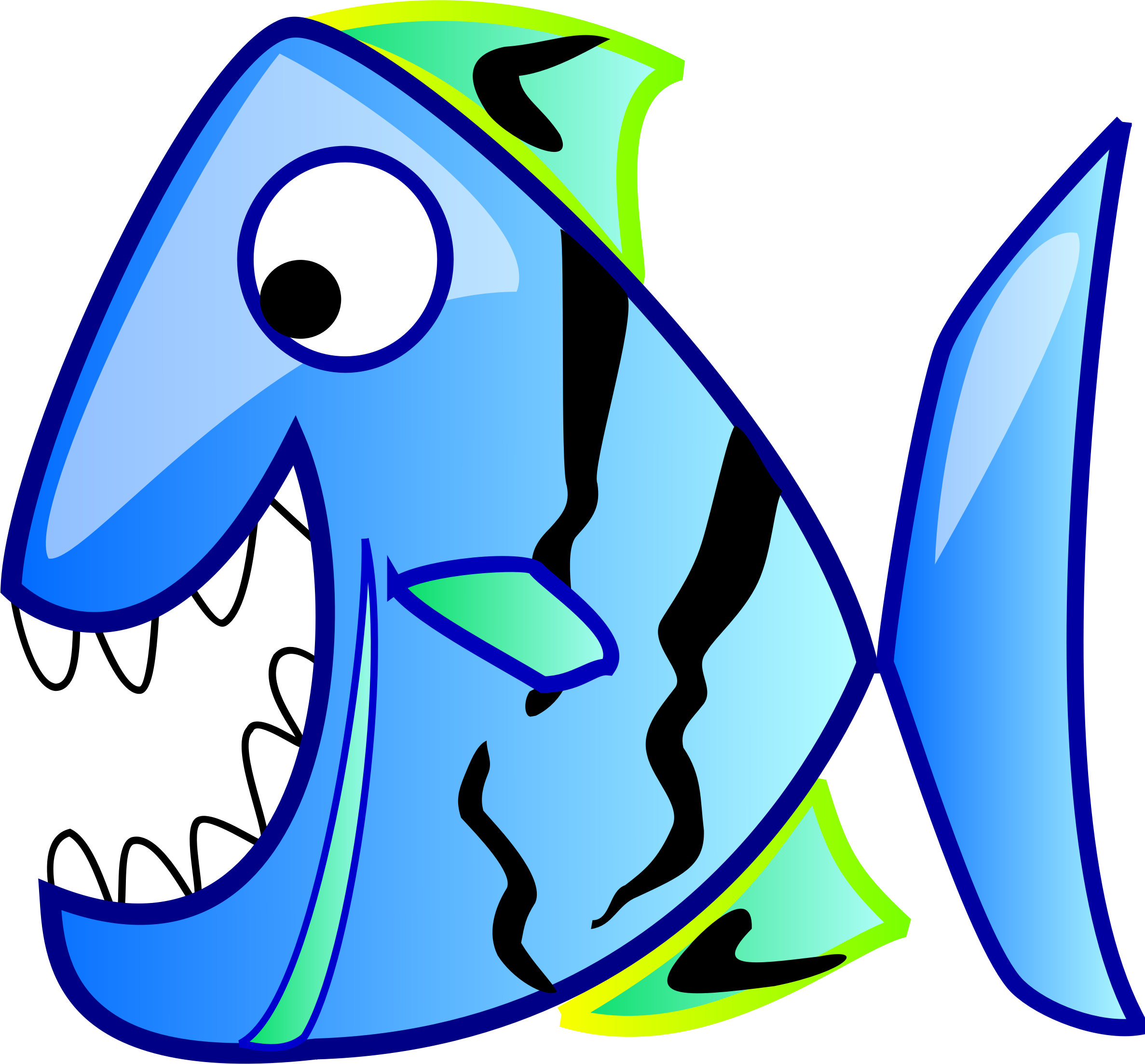 Clipground an red snapper. Clipart fish open mouth