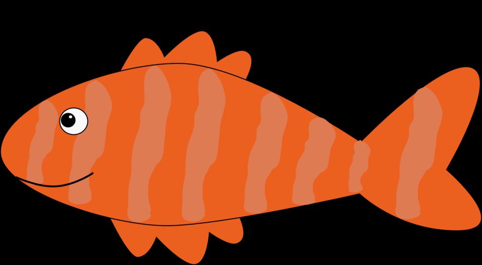 Clipart fish orange. Public domain clip art