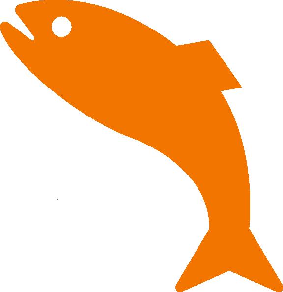 clipart fish orange